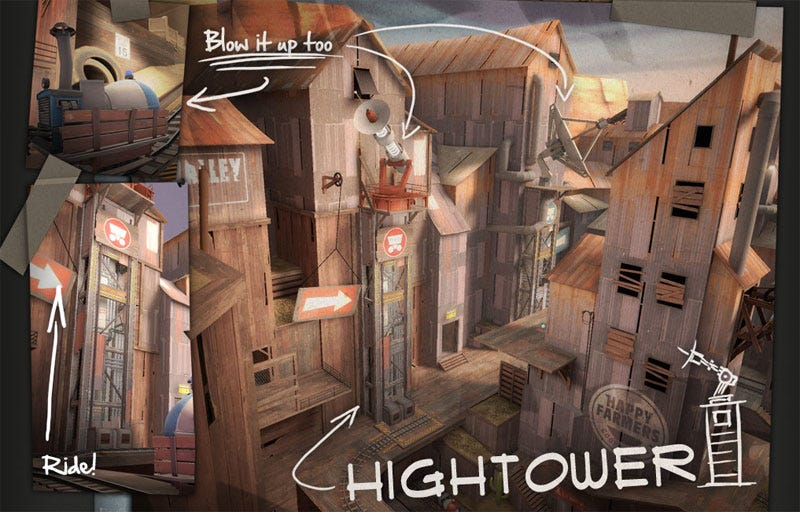 Illustration for article titled Team Fortress 2 Engineer Update Adds 'Hightower,' Police Academy References Ensue