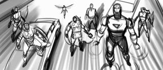 Illustration for article titled The Avengers animatics show alternate Iron Man intros, Loki confrontation, and a bit of Wasp!