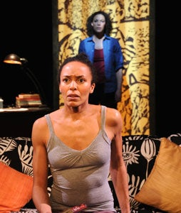 Eisa Davis as herself. Linda Powell [background] as aunt Angela Davis.