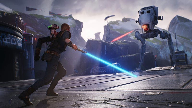 Illustration for the article entitled Lightsabers in video games are too weak