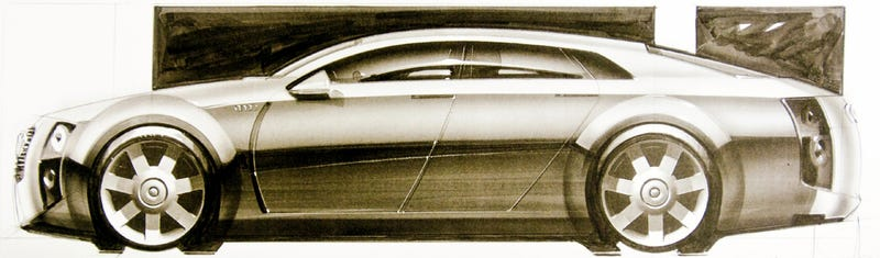 Illustration for article titled The Audi A8 Could Have Looked Like This Retrofuture Streamliner