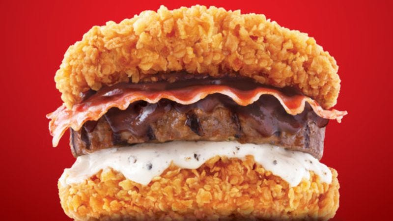 Korea threatens world with KFC Double Down cheeseburger