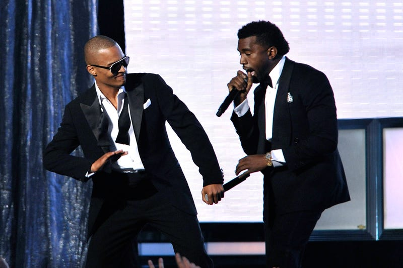 T.I. and Kanye West perform during the 51st Annual Grammy Awards at the Staples Center on Feb. 8, 2009, in Los Angeles.