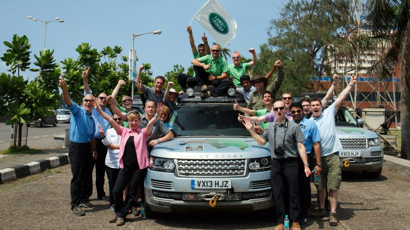 Illustration for article titled Land Rover Completes World's First Hybrid Expedition Along Silk Trail From Solihull To Mumbai