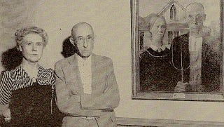 Illustration for article titled An incredibly surreal photo of the real-life goths from American Gothic
