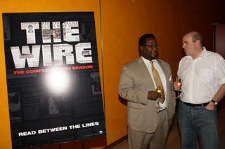 Wendell Pierce and David Simon (Getty Images)