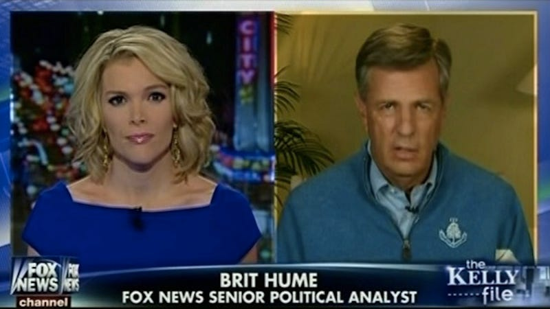 Illustration for article titled Brit Hume Applauds Megyn Kelly's Influential Hotness