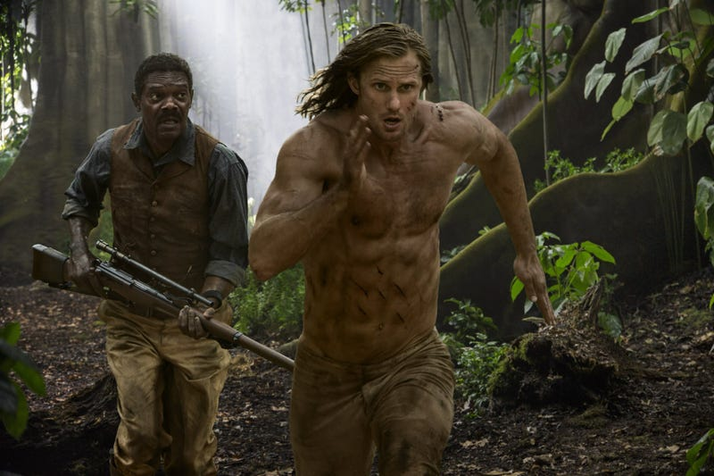 Still from the new movie, The Legend of Tarzan, in which Samuel L. Jackson plays historical figure George Washington WilliamsThe Legend of Tarzan
