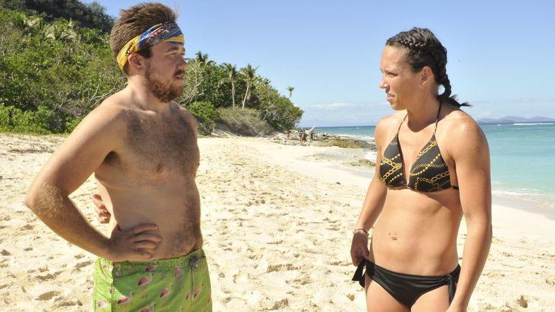 Zeke Smith, Sarah Lacina (Photo: Jeffrey Neira/CBS Entertainment)