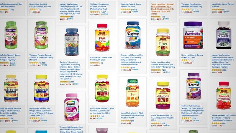 Gold Box de vitaminas   AmazonGráfico: Shep McAllister