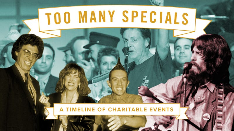 Illustration for article titled Too many specials: A timeline of charitable events