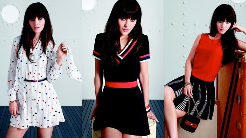 If Zooey Deschanel Had A Uniform It Would Consist Of Adorable Vaguely Retro Line Fit And Flare Dresses That S Just What Her Capsule Collection