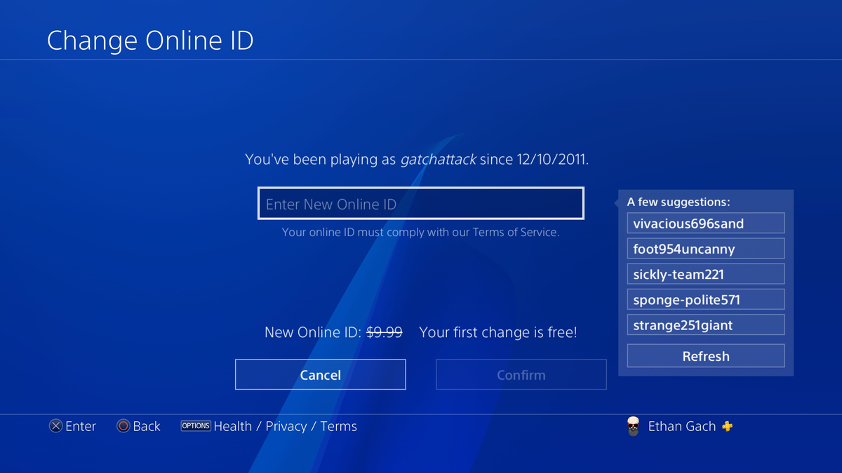 PlayStation Is Really Bad At Suggesting New PSN Names