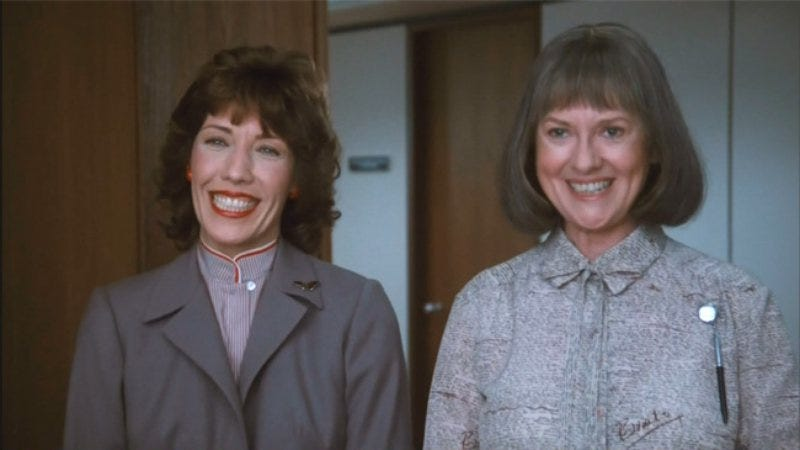 Lily Tomlin (left) and Elizabeth Wilson in 9 To 5