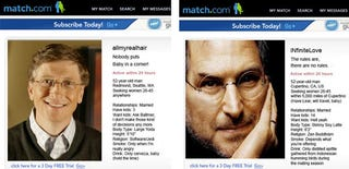 Illustration for article titled If Bill Gates and Steve Jobs were on Match.com: Who is Sexiest?