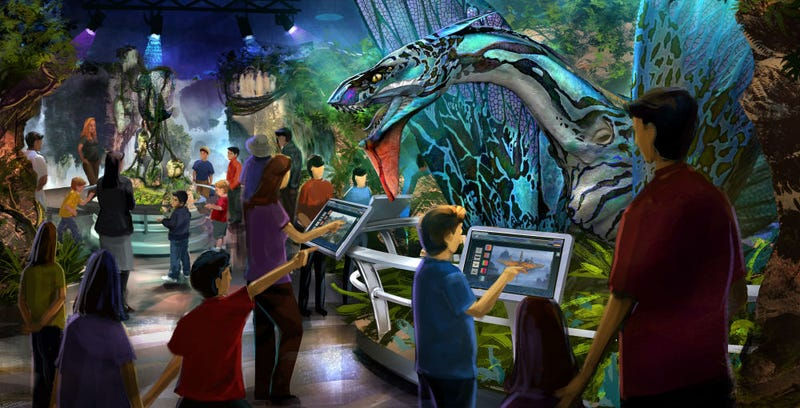 Concept art from Avatar: Discover Pandora, a new museum exhibit.