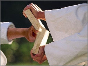 How Karate Chops Break Concrete Blocks