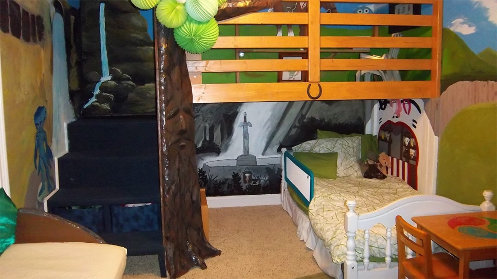 This Kid Gets To Sleep Inside A Video Game Every Night