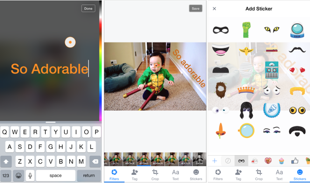 Facebooks Testing New Snapchat-Style Features in Its Photo Editor