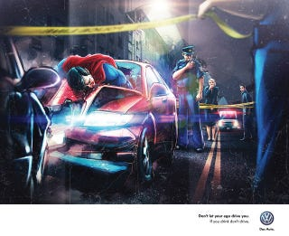 Illustration for article titled These Confusing PSAs Reveal Even Superheroes Shouldn't Drink And Drive