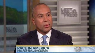 Massachusetts Gov. Deval Patrick spoke about the ongoing protests in Ferguson and his chances of running for president in 2016 on Meet the Press Sunday, Nov. 30.Meet the Pressscreenshot