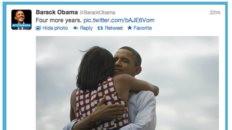 Illustration for article titled Four More Years: The Most Popular Tweet of All Time