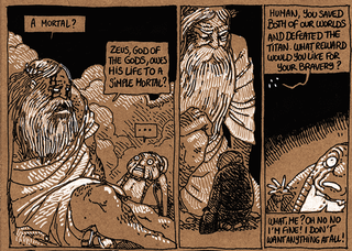 Illustration for article titled An Old Lady Saves Zeus' Life And He Tries To Repay Her...Awkwardly