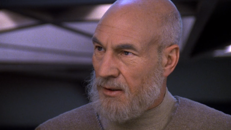 "The older Picard of ""All Good Things."""