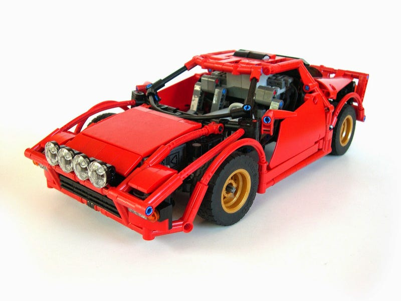 Illustration for article titled Dual-motor R/C Lego Stratos is drift-happy and perfect