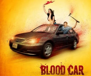 Illustration for article titled New Bloody Topless Joy Riding Poster For Blood Car