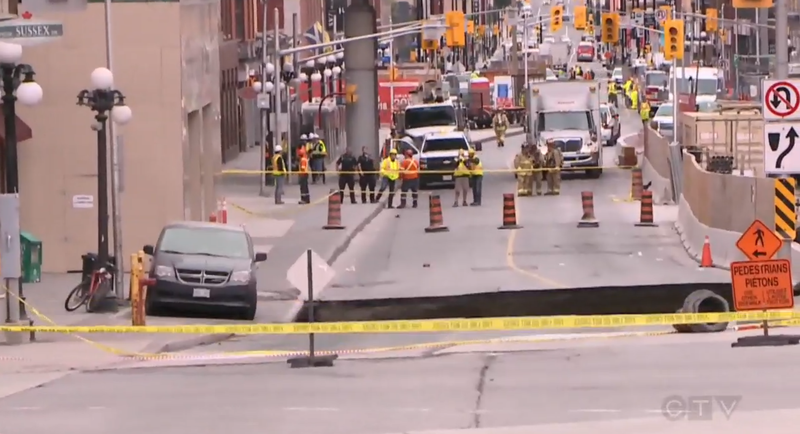 Now you see it... (Image: CTV)