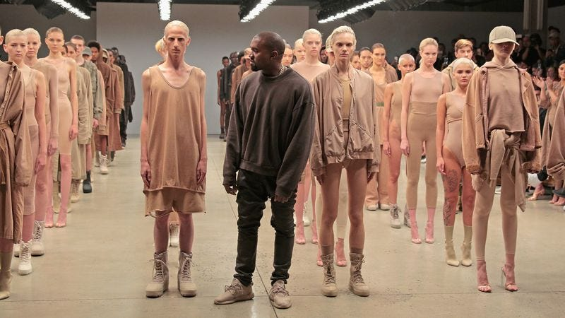 West at the Yeezy Season 2 launch event (Photo: Getty Images)
