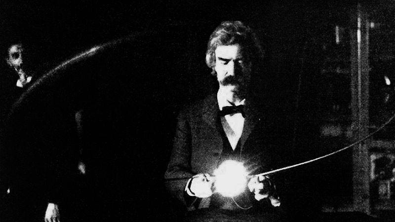 Illustration for article titled The writer of The Emoji Movie is making a movie about Nikola Tesla and Mark Twain