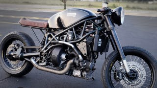 Illustration for article titled This Turbo Diesel Cafe Racer Is Powered By Bacon