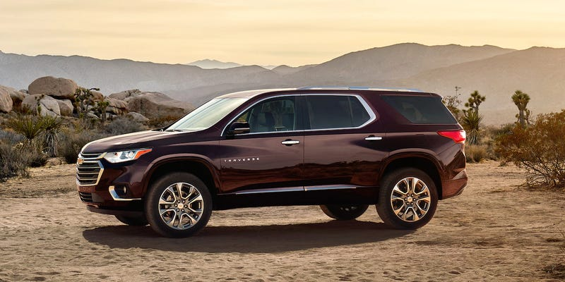 Illustration for article titled 2018 Chevy Traverse High Country is $1215 off of a Suburban