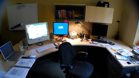 photo of office. set your out of office email a day early to give yourself breathing room before vacation photo f