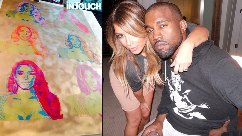 Illustration for article titled Here's The Hideous 'Warhol' of Kim Commissioned by Kanye