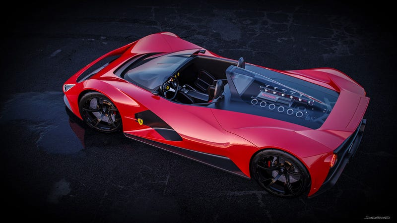 Illustration for article titled Ferrari Aliante Barchetta (personal project)
