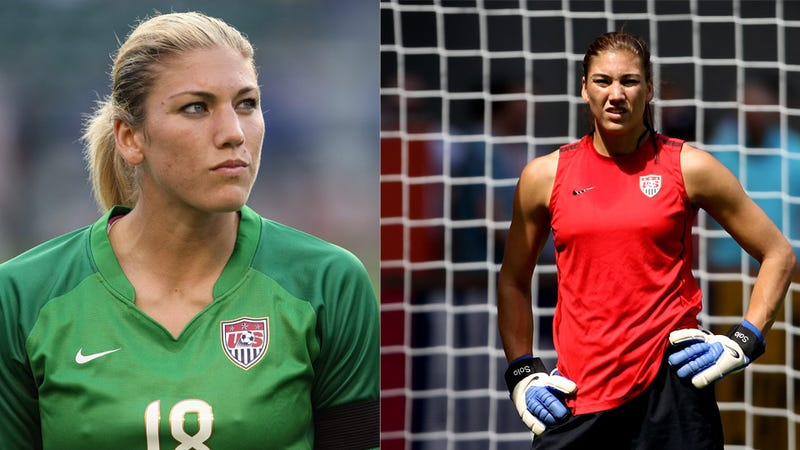 Illustration for article titled Science! Proves That No One Thought Hope Solo Was Hot Until She Went Brunette