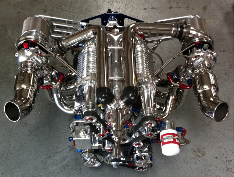 Illustration for article titled 2 Turbos+2 Superchargers+8 cylinders