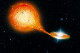 """Illustration for article titled Astronomers Discover A Weird """"Stellar Hybrid"""" — A Star Within A Star"""