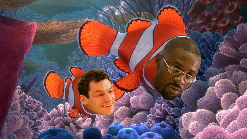 Illustration for article titled The Wire's Dominic West and Idris Elba reuniting as fish, just like you wanted