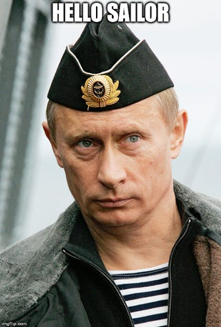 Illustration for article titled Mr Putin goes to sea