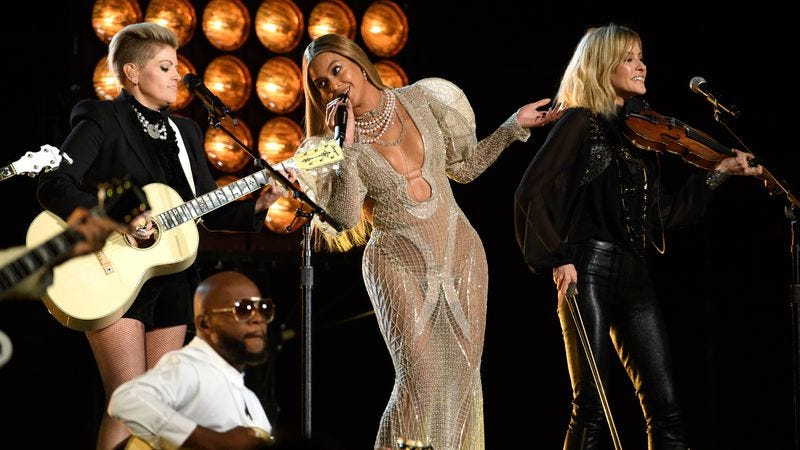 """Illustration for article titled The Grammys don't think Beyoncé's """"Daddy Lessons"""" is a country song"""