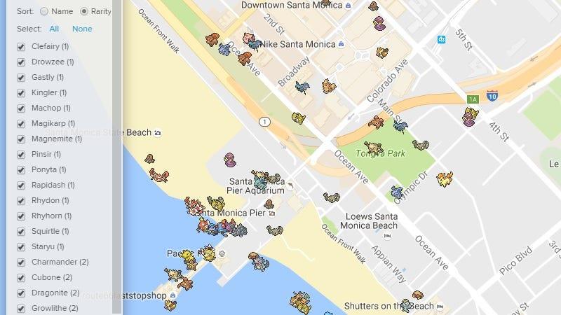 Illustration for article titled Skiplagged's Real-Time Pokémon Go Map Is a DecentPokéVision Alternative