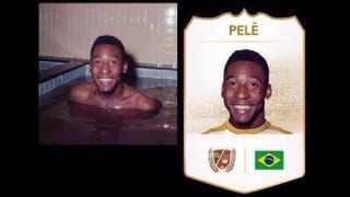 Illustration for article titled Yes, FIFA 14 Really Does Use a Picture of Pelé in a Hot Tub