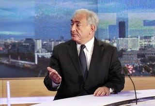 Strauss-Kahn in his first TV interview since his arrest in May (Getty Images)