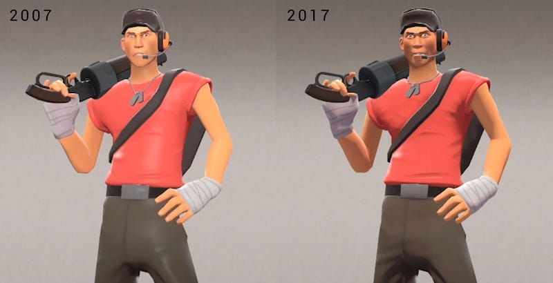 Illustration for article titled Team Fortress 2 Looks Worse Now Than It Did In 2007