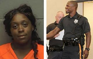 Shakera Brown; Police Officer Braheme DaysNBC Philadelphia Screenshot