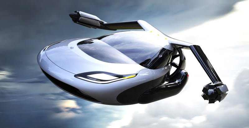 An imaginary flying car that doesn't actually exist